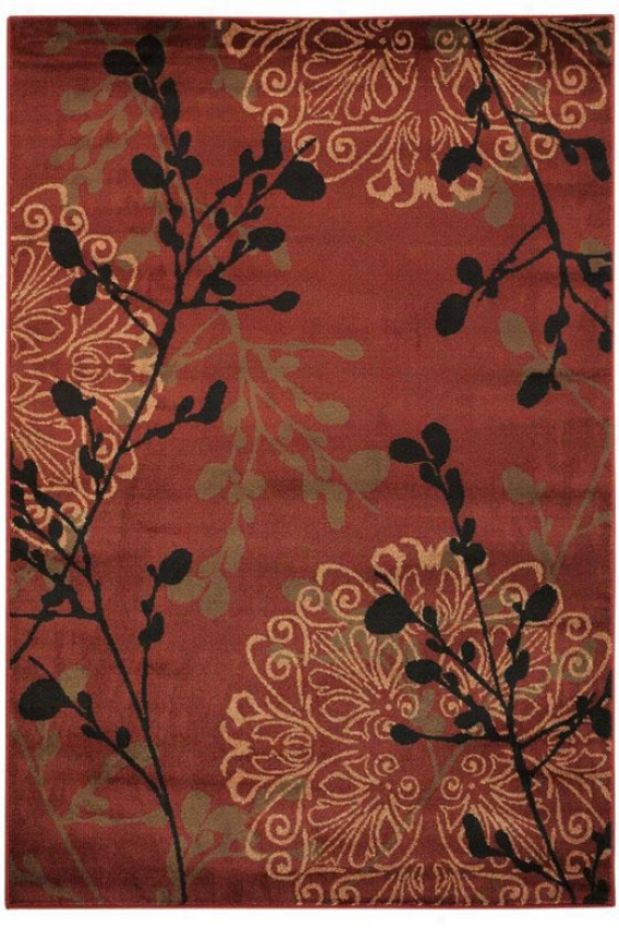 """dappled Area Rug - 1'11""""x7'6"""", Red"""