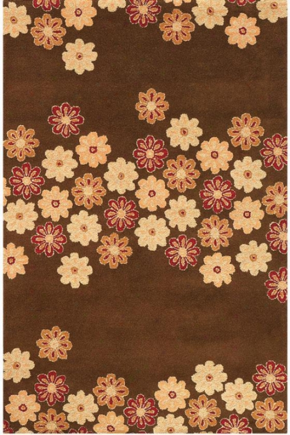 Dixie Area Rug - 8'x11'', Chocolate Brown