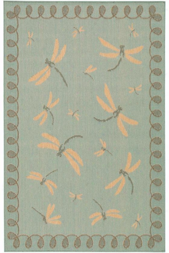 """dragonfly Rug - 7'10"""" Square, Aqua Blue"""