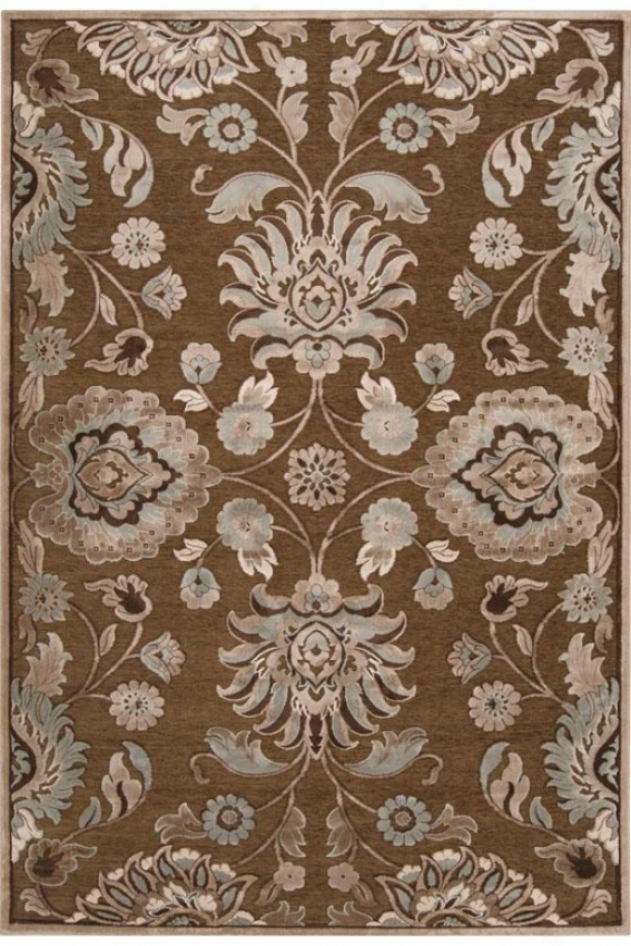 """eden Ut0pia Area Rug - 4'x5'7"""", Brown"""