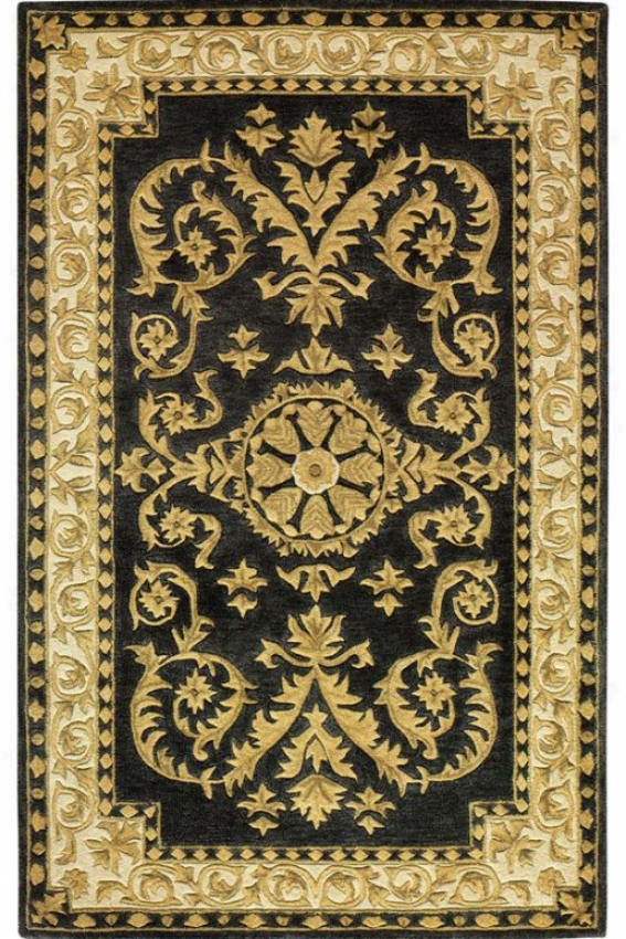 """esquire Area Rug - 8'3""""x11', Charcoal/gold"""