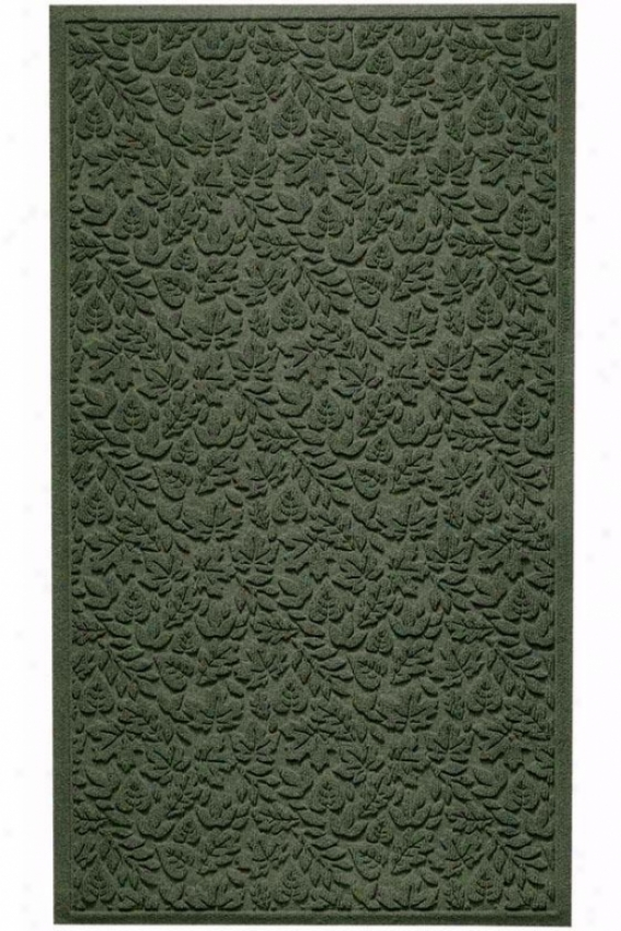 """fall Day Water Guard Doormat - 31.75""""x56.75"""", Forest Green"""