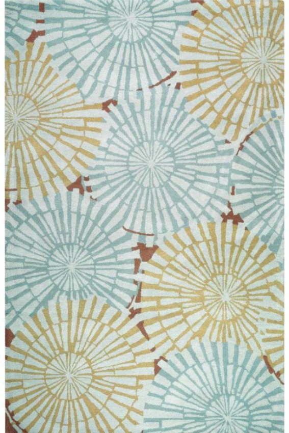 Folly Superficial contents Rug - 2'x3', Blue
