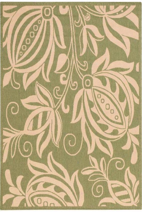 """hyacinth Area Rug - 4'x5'7"""", Green"""