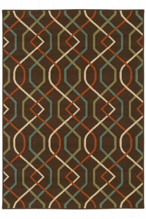 """illusion Area Rug Ii - 7'10""""x11', Brown"""