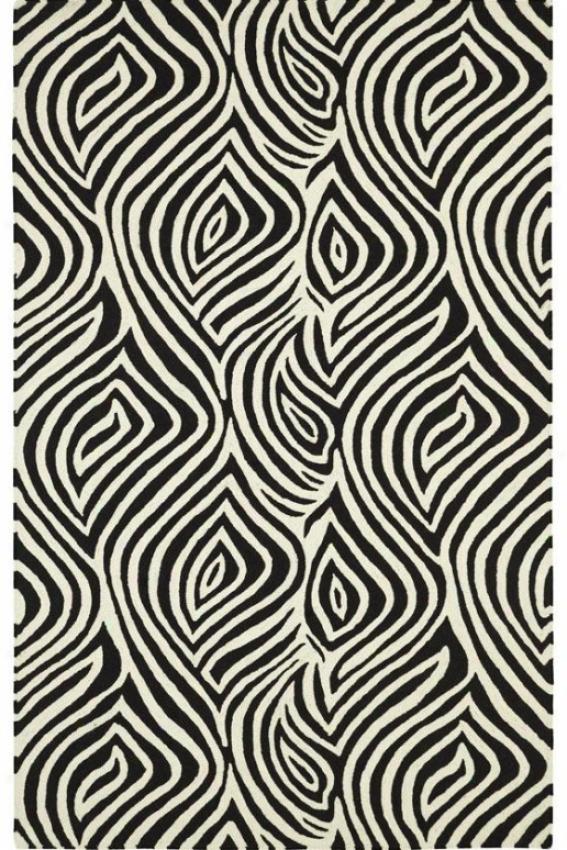 Illusion Iii Area Rug - 5x8, Ivory-black