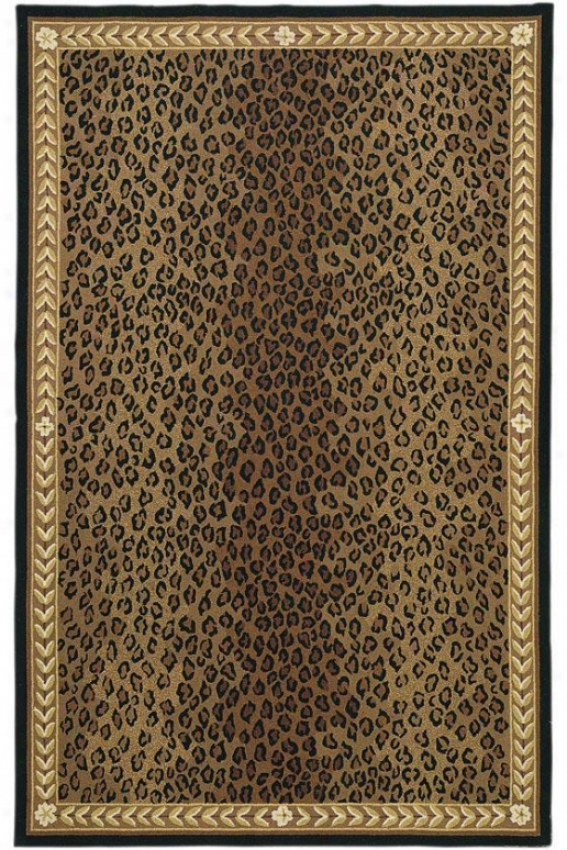 """leopard Area Rug - 3'9""""x5'9"""", Black"""