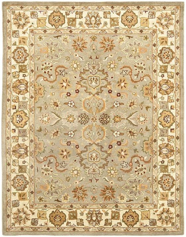 """liliana Area Rub - 2'3""""x4' Runner, Lgt Green/beige"""