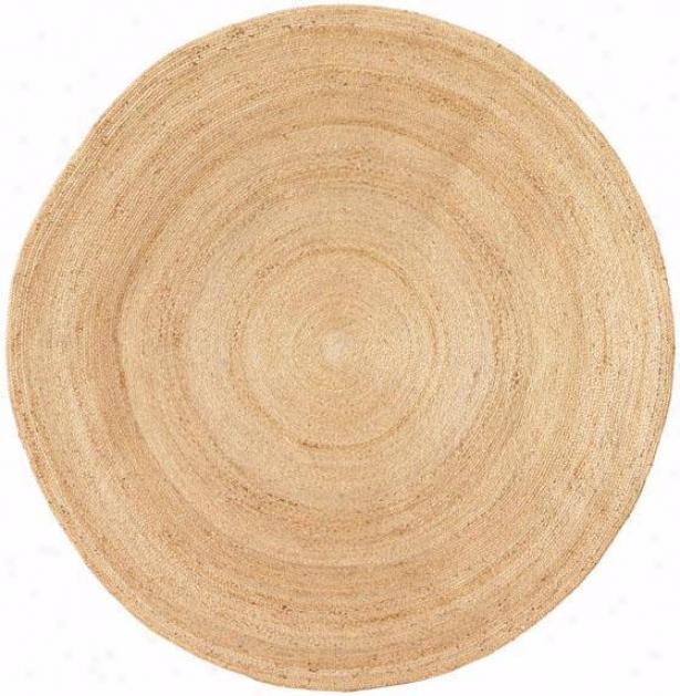 Lune Roumd Hemp Rug - 6' Round ,Ivory