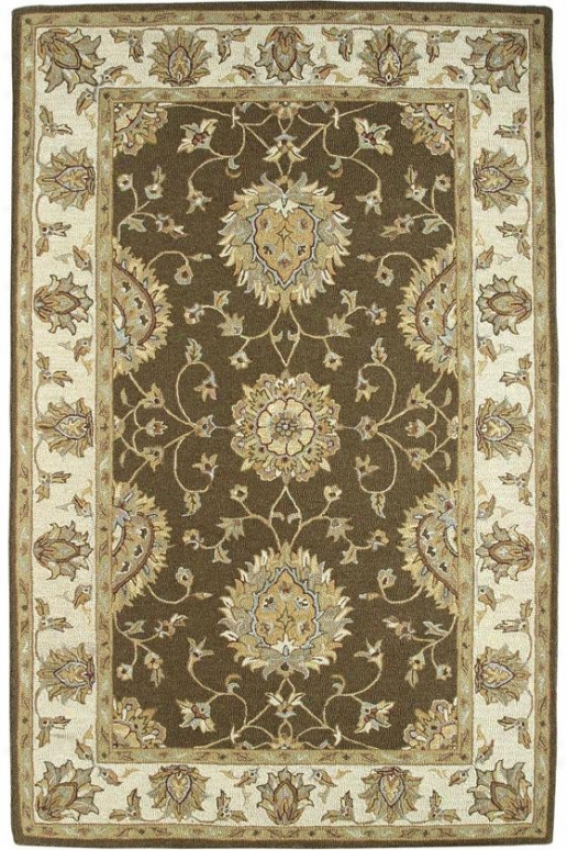 Medallion Iv Area Rug - 8x11, Brown-beige
