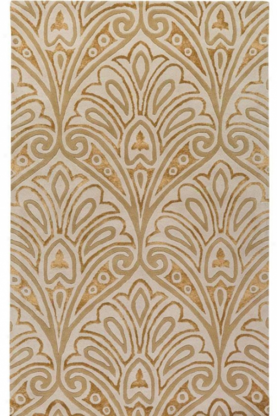 """Archbishop Collection Orleqns Area Rug - 2'6""""x4'6"""", Ivory"""