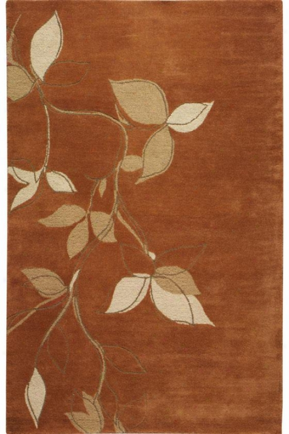 """""""montaigne Collectioh Leaves Area Rug - 5'3""""""""x8'3"""""""", Coral"""""""