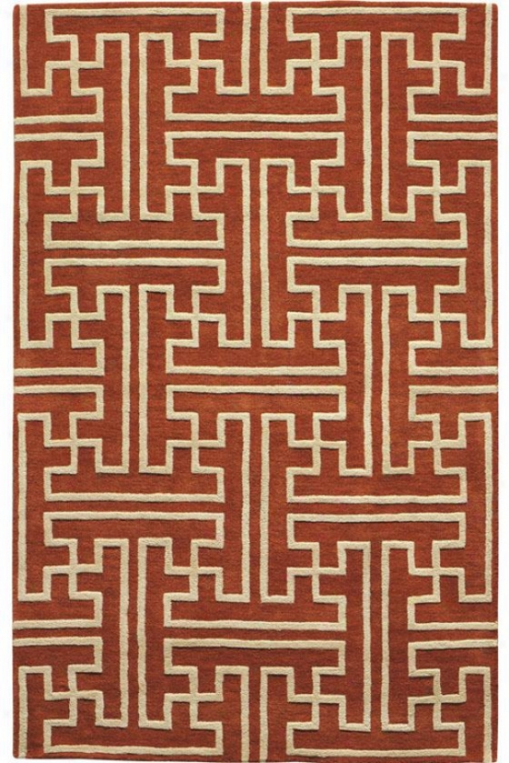 """montaigne Collection Maze Area Rug - 3'6""""x5'6"""", Coral"""