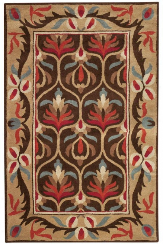 """montclair I Area Rug - 5'3""""x8'3"""", Chocolate Brown"""