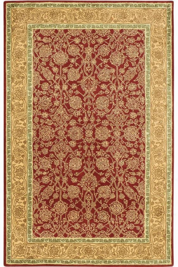 """""""nadia Area Rug-  5'5""""""""round, Red"""""""