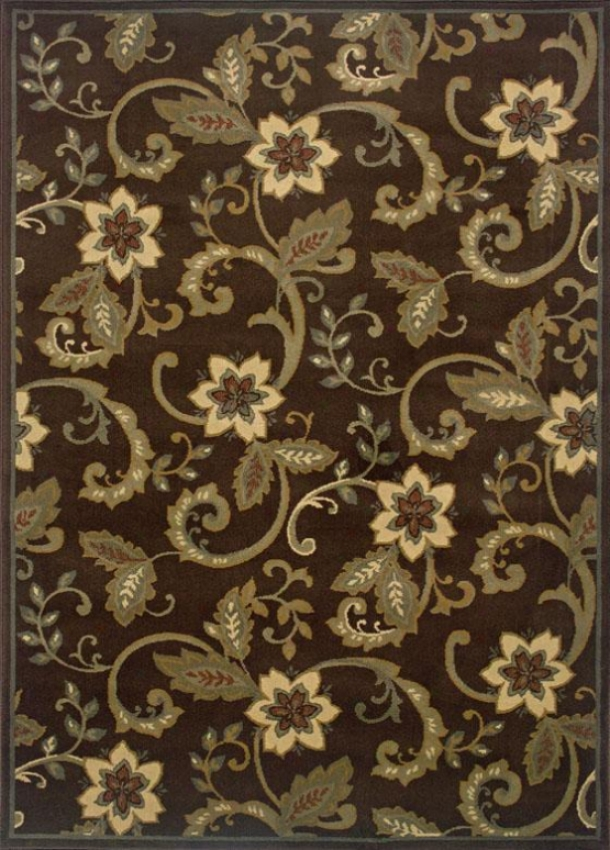 """newcastle Rug - 2'6""""x7'9""""runner, Brown"""