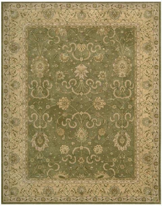 Nourison Altay Area Rug - 6' Scalloped, Green
