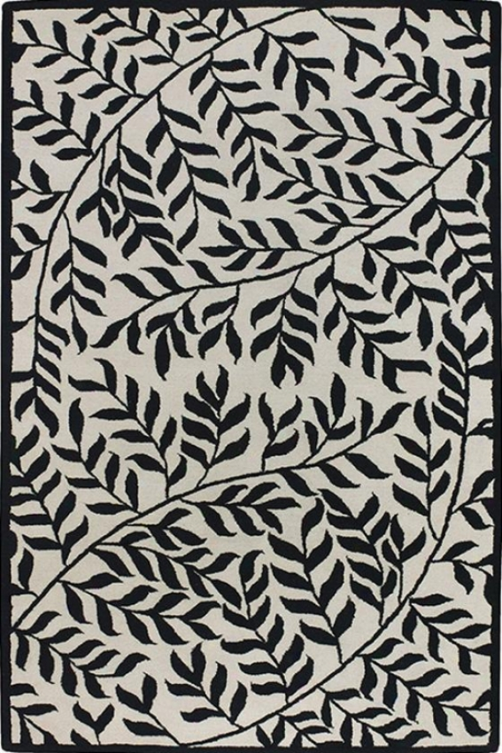 Olive Branch Area Rug - 8'x11', White