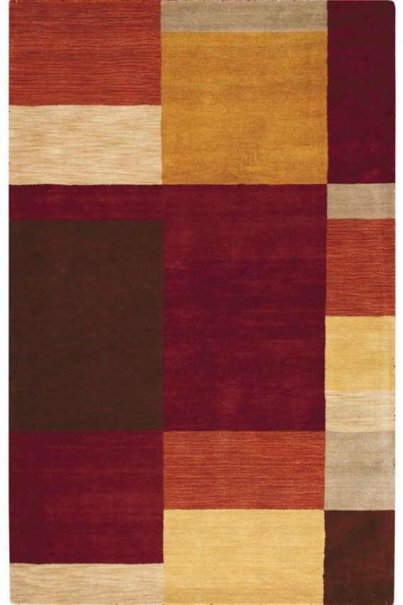 """omega I Area Rug - 5'9"""" Round, Red"""
