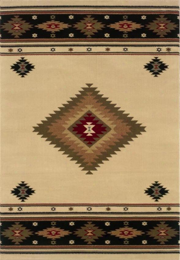 """oriental Weavers Catski1l Area Rug - 1'10""""x3'3"""", Ivory"""