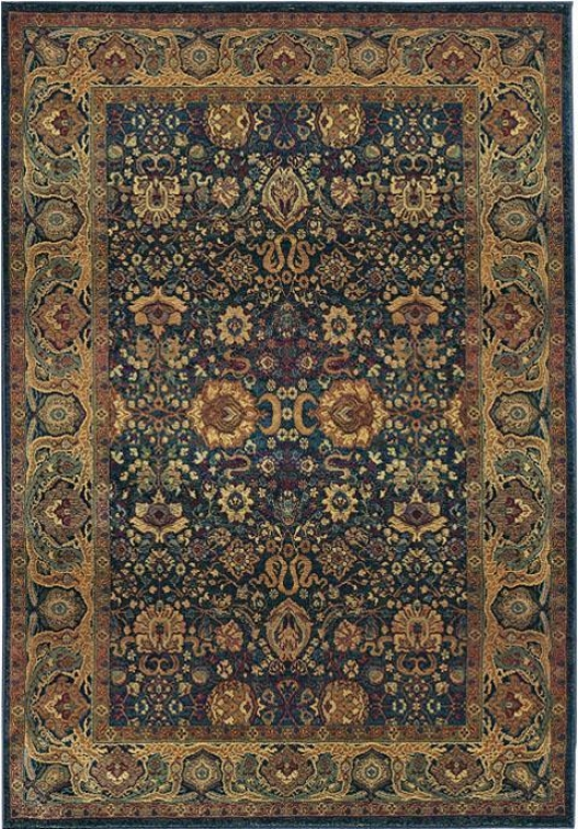 Oriental Weavers Exhilzration Area Rug - 10'round, Blue