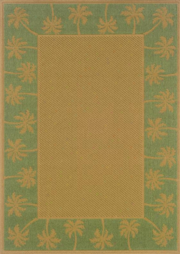 """oriental Weavers Palm Ii Area Rug - 7'3"""" True, Green"""