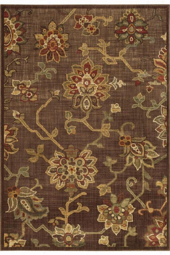 """Eastern Weavers Promise Area Rug - 7'8"""" Round, Brown"""