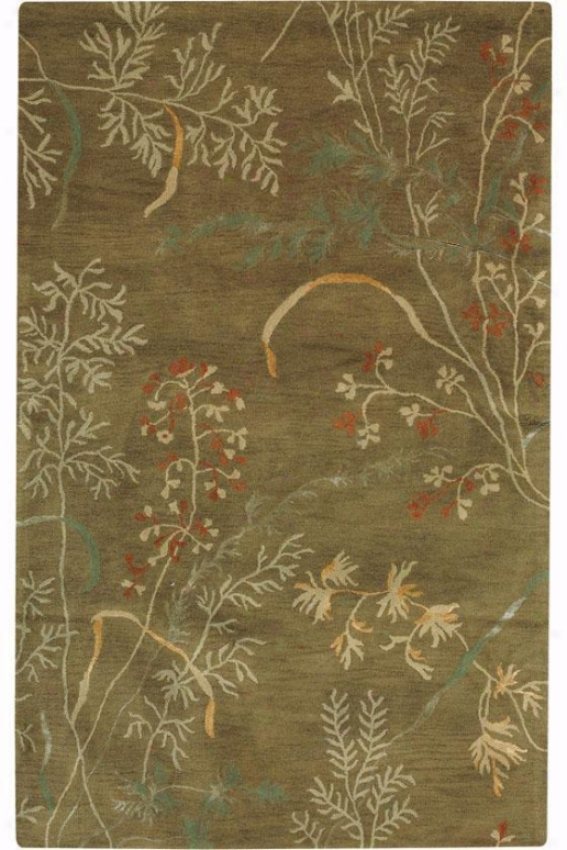 """""""pacific Area Rug - 7'9""""""""round, Sage"""""""