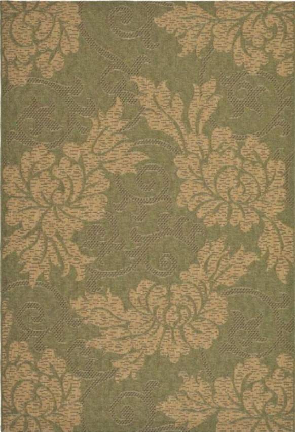 """panorama Area Rug - 3'9""""x5'5"""", Green"""