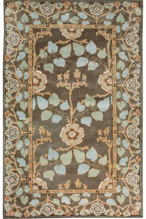 Patrician Rug - 6' Round, Charcoal Hoary
