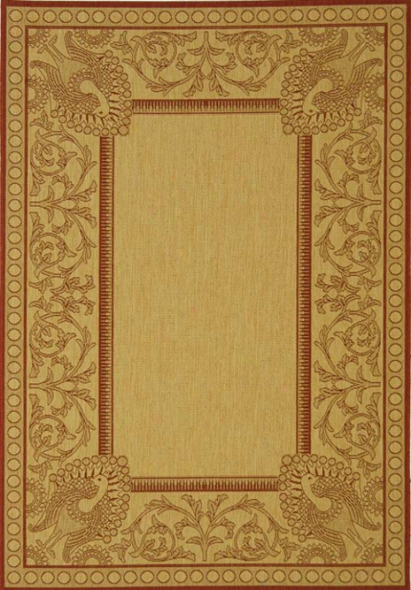 """pavo Area Rug - 2'x3'7"""", Natural/red"""