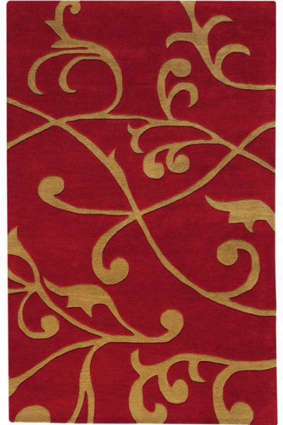 """perpetual Area Rug - 9'9""""x13'9"""", Red"""