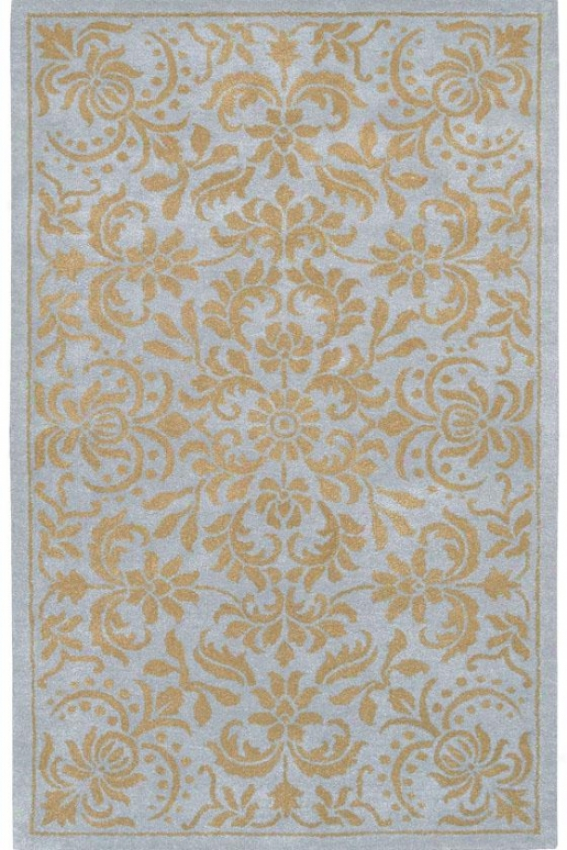 """prestigee Ii Area Rug - 2'6""""x8' Runner, Pale Blue/tan"""