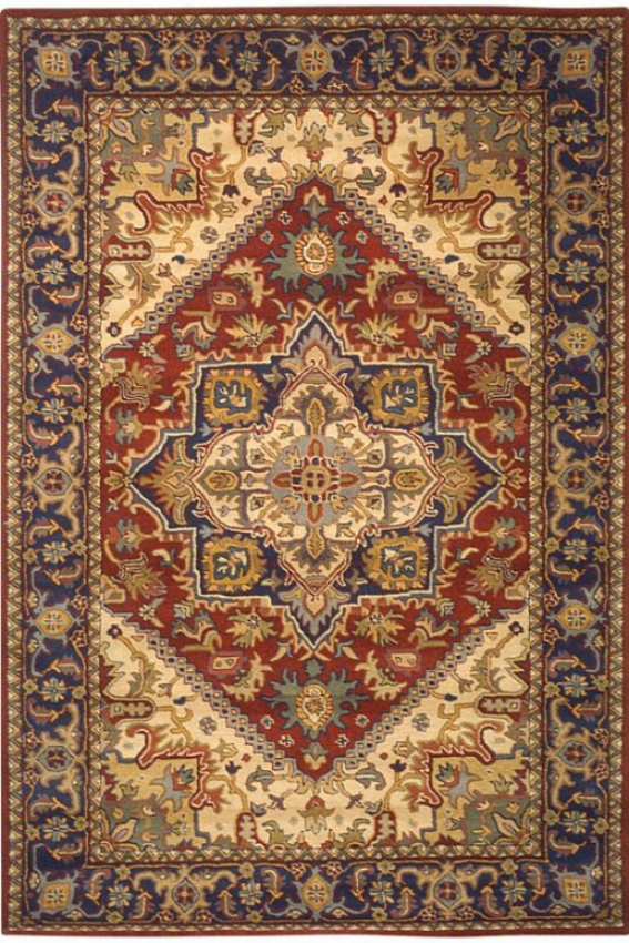 Provence Iii Area Rug - 8'x8' Round, Red
