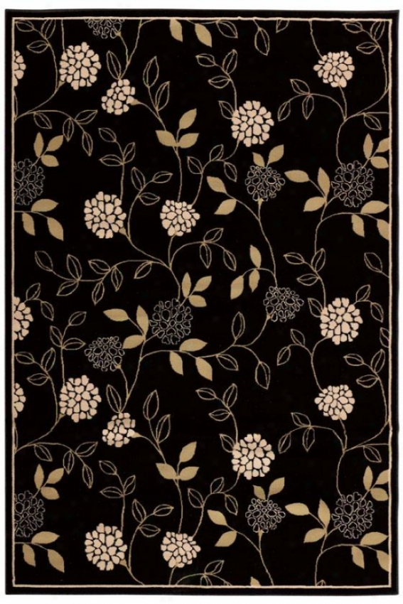 """rosella Area Rug - 23'""""x7'9""""runner, Black"""