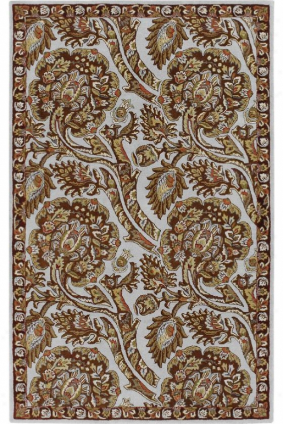 Spectacle Ii Region Rug - 8' Round, Rust/llight Blue