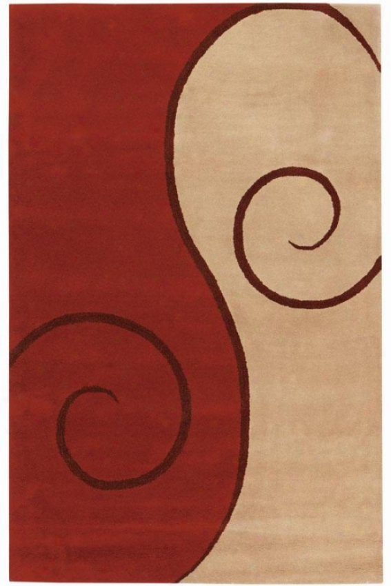 Swirl Rug - 8'x11', Coral