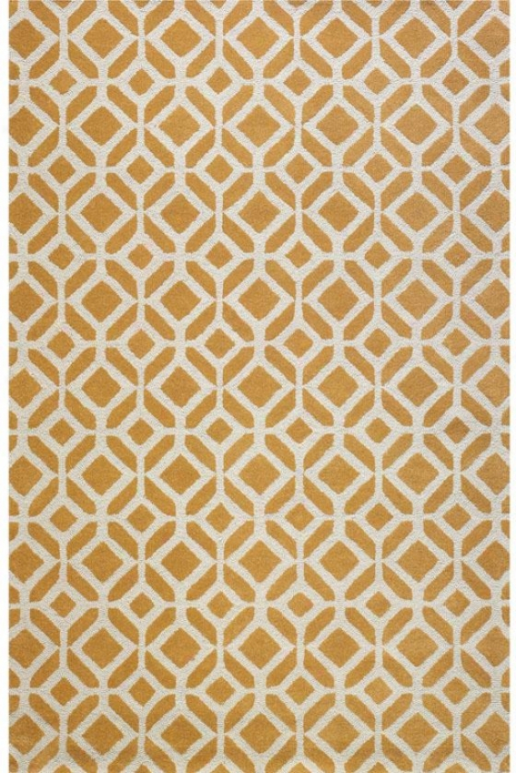 """taza Area Rug - 5'3""""x8'3"""", Yellow"""