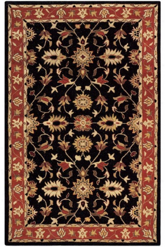 """thornbury Rug - 5'9"""" Sur~, Black"""