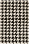 Houndstooth Area Rug - 3'x5', Black