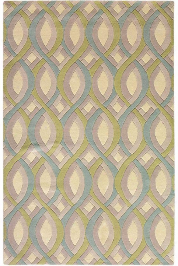 """twist Wool Area Rug - 7'9"""" Round, Beige"""