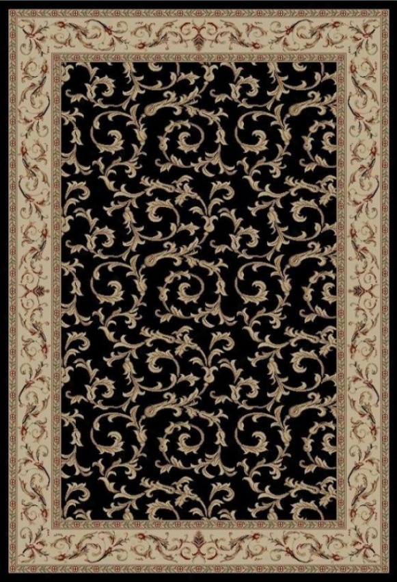 """veronica Area Rug - 2'7""""x4'1"""", Black"""