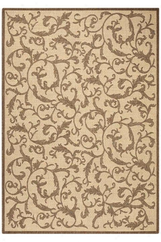 """vineyard All-weather Arra Rug - 4'x5'7"""", Brown"""