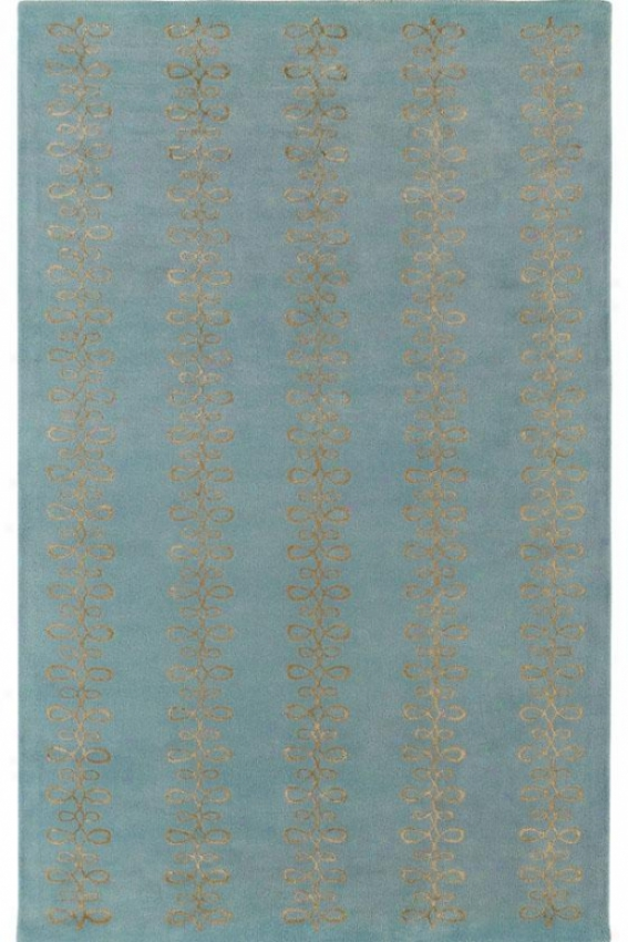"""""""visions Ii Area Rug - 3'3""""""""x5'3"""""""", Sky/silver"""""""