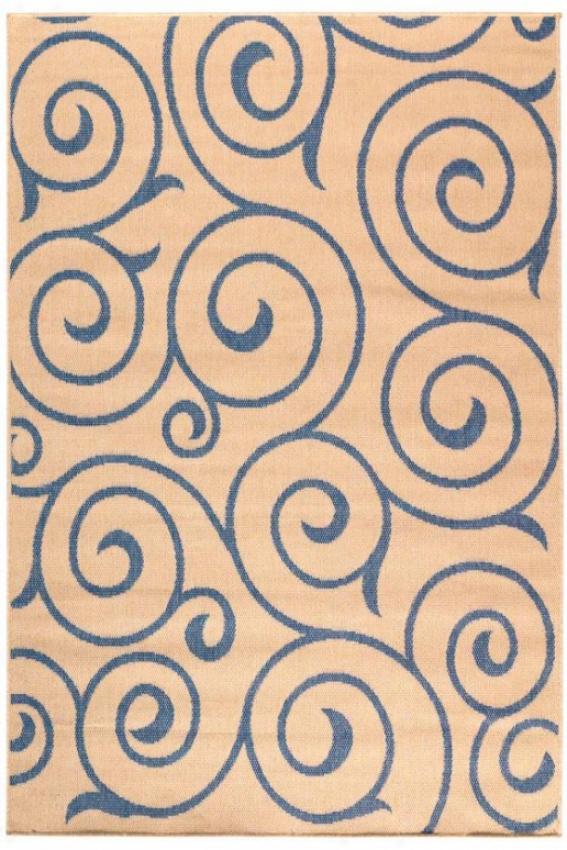 """whirl All-weather Rug - 2'3""""x11'""9""runnr, Blue"""