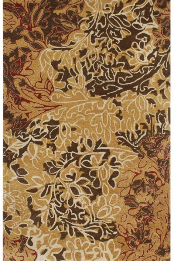 """willmore Area Rug - 3'6""""x5'6"""", Dark Amber Gold"""