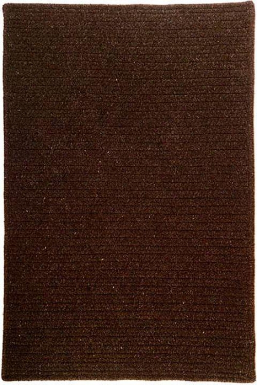 Wilshire Rectangular Braid Texture Area Rug - 3'octagon Fring, Chocolate Brown
