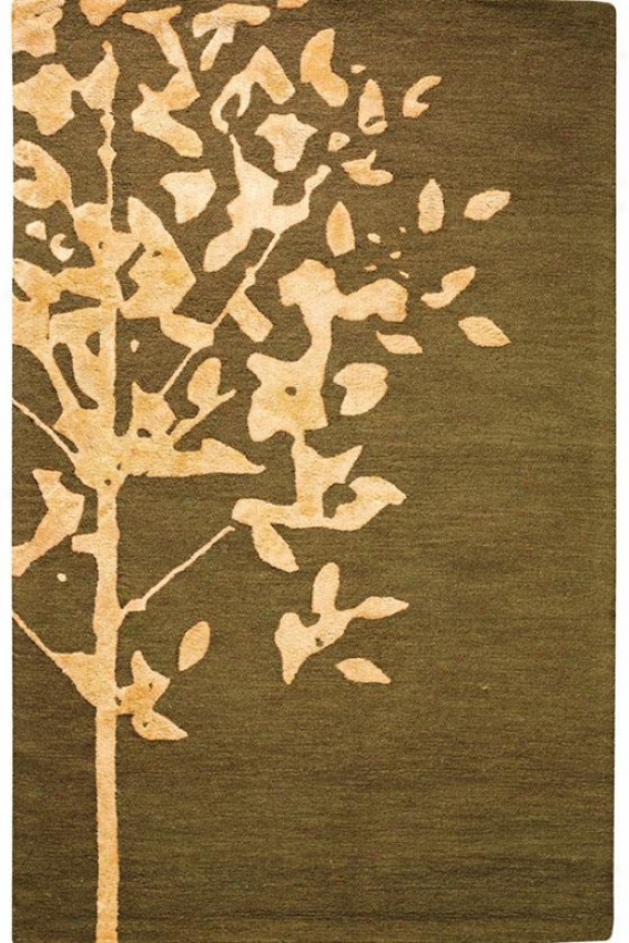 """woodland Area Rug Ii - 3'6""""x5'6"""", Brown"""