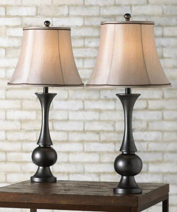 """""""abbott Table Lamp - Set Of 2 - 29""""""""h, Bronze"""""""