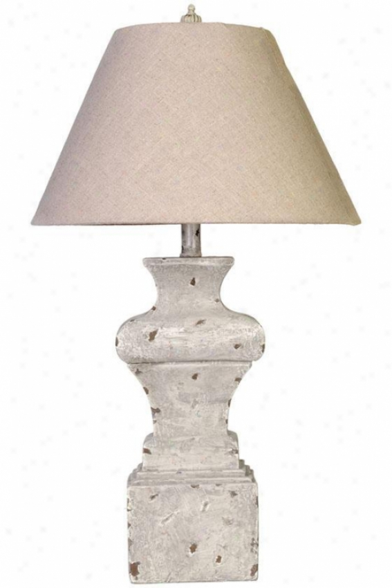 """adonis Table Lamp - 29""""hx16.5""""d, Ivory"""